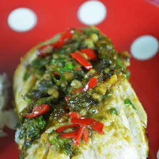 Grilled Cod With Chermoula.