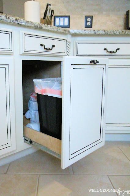 hidden kitchen trashcan