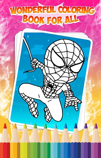 Superhero coloring book app apk free download for Coloring book for me apk