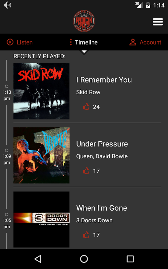 Seattle's Rock 98.9- screenshot