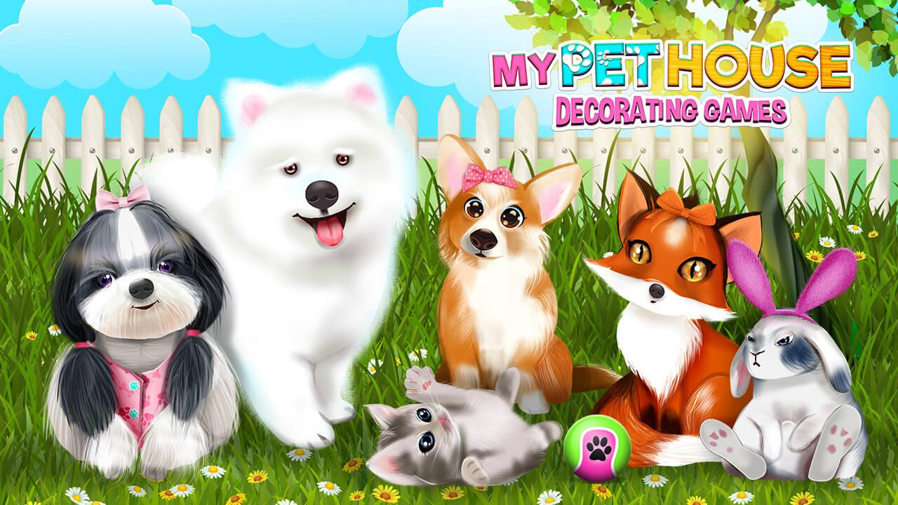 My pet house decorating games android apps on google play for Animals decoration games