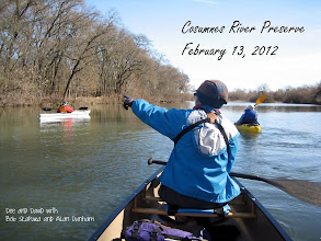 Photo: Our first paddle of the year, a beautiful winter day