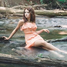 Jade L by Tyler Oxley - People Portraits of Women ( film, water, model, teen, river )