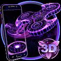 3D Fidget Spinner Neon Hologram Theme icon
