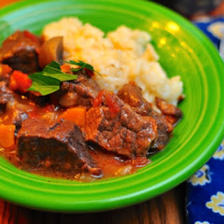 Pressure Cooker Beef Stew with Mushrooms