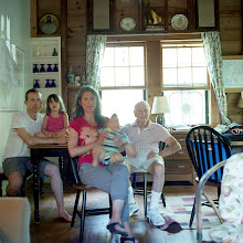 Photo: title:Carin + Gar Allen, Dan, Anna + Evan Wainberg, Woods Hole, Massachusetts date: 2015 relationship: friends, met through Tania Allen years known: Carin + Gar 30-35, Dan 5-10