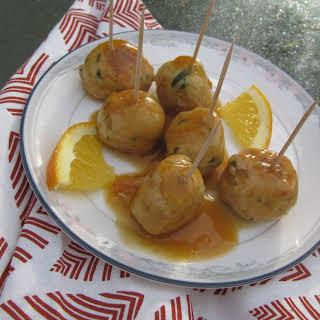 Turkey meatballs in orange sauce #SundaySupper.
