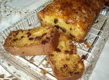 Apple-Raisin Bread w/ Orange Glaze