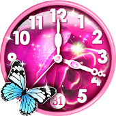 Pink Clock Live Wallpaper