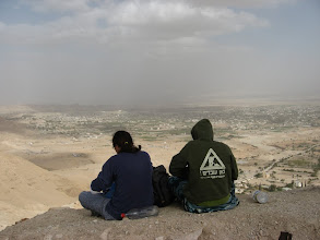 Photo: View of Jericho from the Kipros fortress...מבט אל יריחו ממצודת הקפרוס