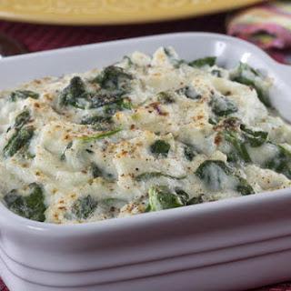 Creamed Cauliflower Spinach Recipe