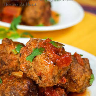 Mexican Meatballs in Chipotle Sauce.