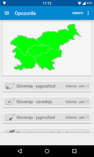 Deu017e - Slovenian rain radar 16.1 screenshots 2