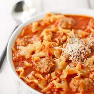 Ricotta Meatball Soup