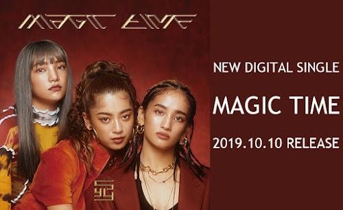 "Banner do single ""MAGIC TIME""."