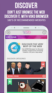 VOKO Web Browser PRO - Discover the Web Screenshot