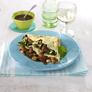 Crêpes With Duck And Plum Sauce