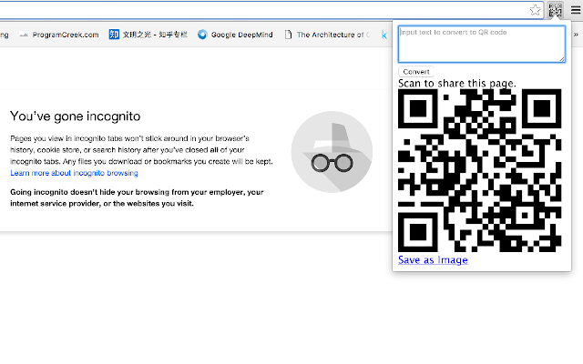 URL to QR code converter