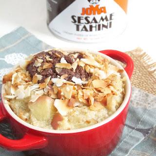 Apple Oatmeal with Chocolate Tahini and Coconut Recipe