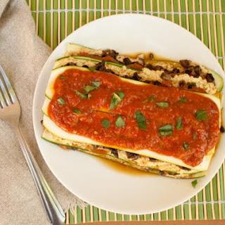 Raw Mushroom and Zucchini Lasagna