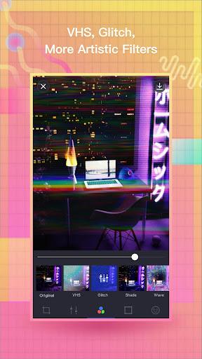 VaporCam-Glitch, Aesthetic, Vaporwave Photo Editor 1.9.3 screenshots 2