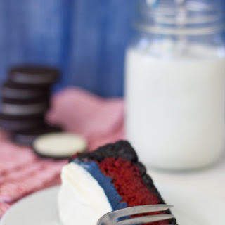 Red, White, and Blue Velvet Mississippi Mud Pie