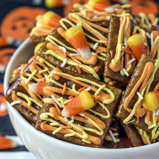 Candy Corn Saltine Toffee