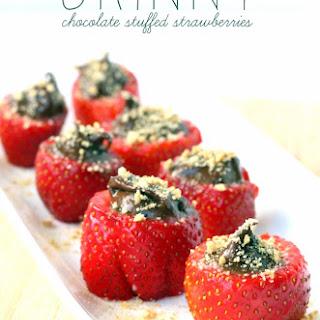 Skinny Chocolate Stuffed Strawberries.
