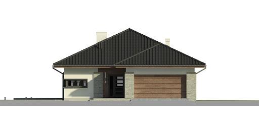 Dom przy Pastelowej 3 - Elewacja przednia