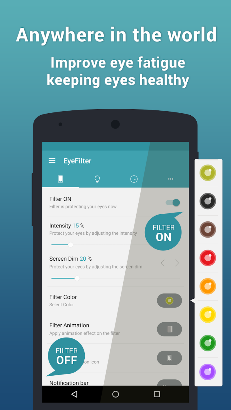 EyeFilter PRO - Bluelight Screenshot 1