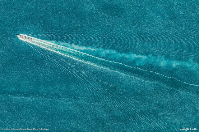 Imagen aérea del Estrecho de Gibraltar.