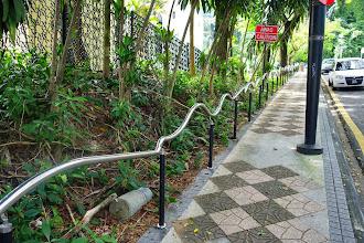 Photo: No sliding on this railing