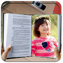 Books photo frame effects icon
