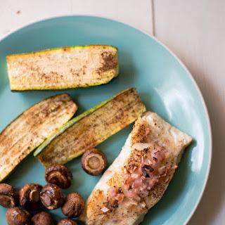 Baked Sea Bass And Zucchini Sheet Pan