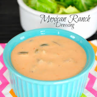 Easy Mexican Ranch Salad Dressing.