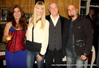 """Photo: The first time my JFK collection was shown publicly was at this VIP Premiere of Ridley Scott's movie """"Killing Kennedy"""", that I hosted in Nashville. Hip Kitty / Rock band, and Michael Shiflett  with me in front of the JFK collection"""