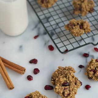 Cranberry Applesauce Oatmeal Cookies.