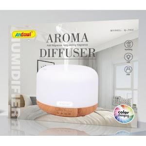 Difuzor uleiuri aromaterapie, 300 ml, led multicolor Andowl Q-T62, Stejar