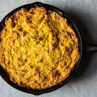 Wintry Corn Bread Pudding