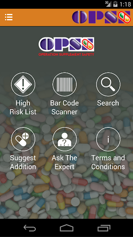android High Risk Supplements - OPSS Screenshot 0