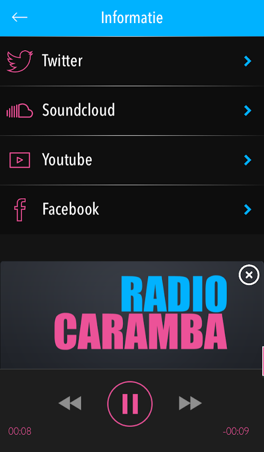 Radio Caramba: screenshot