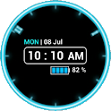 Neon Clock Widget [Free] icon