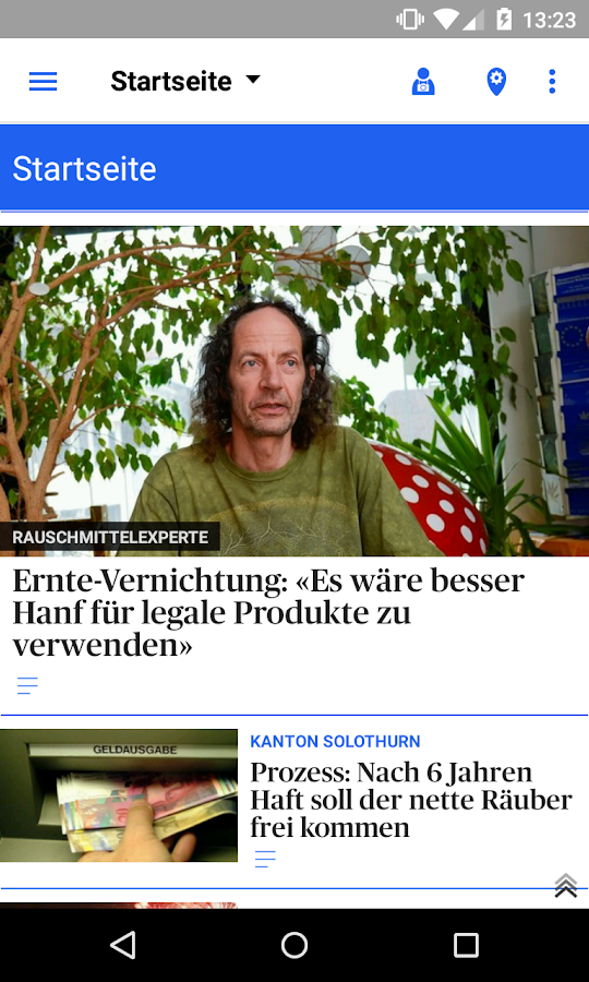 ot Oltner Tagblatt News- screenshot
