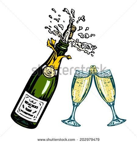 Image result for TOASTING CHAMPAGNE CARTOONS