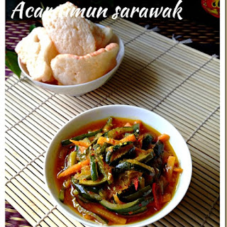 Sarawak Pickled Cucumber – Acar Timum Sarawak.