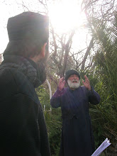 Photo: Fr. Ioachim at the monastery at the Mt. of Olives