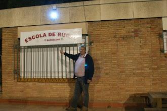 Photo: Yves, à l'école de rugby du Barça