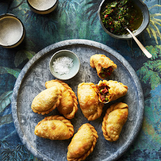 San Telmo's beef and chorizo empanadas with chimichurri