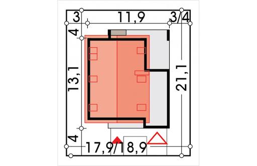 Alamo wersja B z pojedynczym garażem - Sytuacja