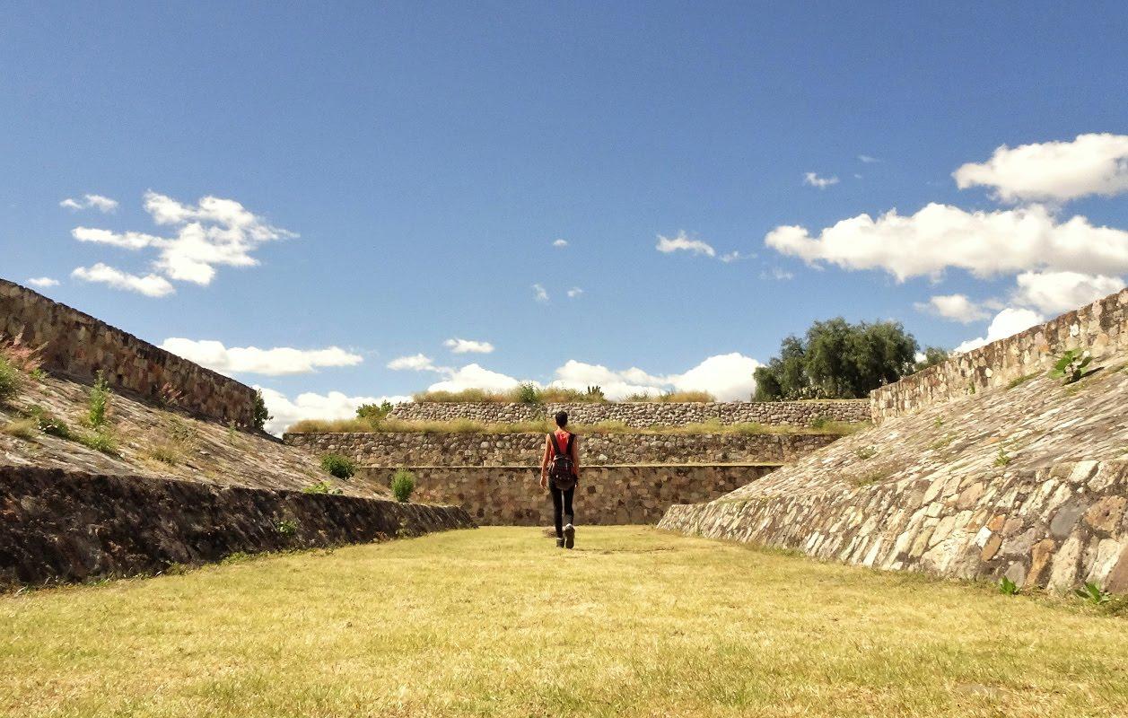 juego de pelota de Yagul en Oaxaca